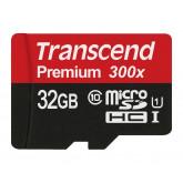 Transcend Premium Class 10 microSDHC 32GB Speicherkarte mit SD-Adapter (UHS-I, 60 Mbps Lesegeschwindigkeit) [Amazon Frustfreie Verpackung]